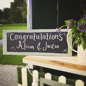 custom menus and signs for weddings and parties